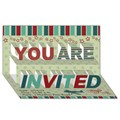 YOU ARE INVITED 3D Greeting Card (8x4)
