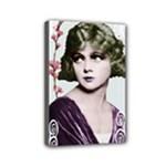 Art Deco Woman in Purple Velvet Mini Canvas 6  x 4  (Stretched)