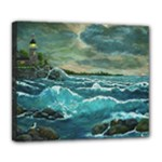 Hobson s Lighthouse by Ave Hurley - Deluxe Canvas 24  x 20  (Stretched)