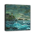 Sailing At Hobson s Lighthouse 2 By Ave Hurley Mini Canvas 6  x 6  (Stretched)