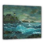 Sailing at Hobson s Lighthouse by Ave Hurley -  Canvas 24  x 20  (Stretched)