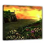 Eddies Sunset by Ave Cosgriff Hurley Canvas 24  x 20  (Stretched)