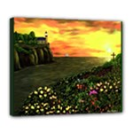 Eddie s Sunset by Ave Hurley - Deluxe Canvas 24  x 20  (Stretched)