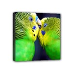 Kiss And Love Lovebird Mini Canvas 4  x 4  (Stretched)