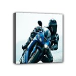 Vehicles Motorcycle Racer Mini Canvas 4  x 4  (Stretched)