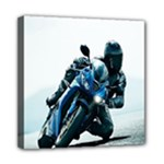 Vehicles Motorcycle Racer Mini Canvas 8  x 8  (Stretched)