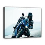 Vehicles Motorcycle Racer Canvas 14  x 11  (Stretched)