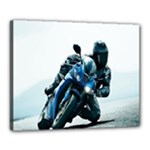 Vehicles Motorcycle Racer Canvas 20  x 16  (Stretched)