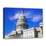 Usa White House Canvas 16  x 12  (Stretched)