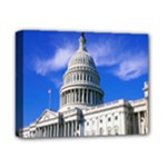 Usa White House Deluxe Canvas 14  x 11  (Stretched)