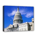 Usa White House Deluxe Canvas 20  x 16  (Stretched)