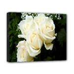 White Rose Canvas 10  x 8  (Stretched)