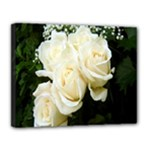 White Rose Canvas 14  x 11  (Stretched)