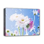 White Gerbera Flower Refresh From Rain Deluxe Canvas 16  x 12  (Stretched)