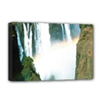 Zambia Waterfall Deluxe Canvas 18  x 12  (Stretched)
