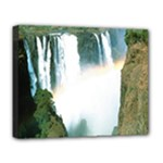 Zambia Waterfall Deluxe Canvas 20  x 16  (Stretched)