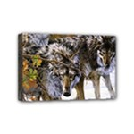 Wolf Family Love Animal Mini Canvas 6  x 4  (Stretched)
