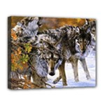 Wolf Family Love Animal Canvas 14  x 11  (Stretched)
