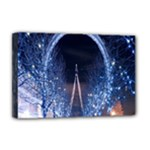 London Eye And  Ferris Wheel Christmas Deluxe Canvas 18  x 12  (Stretched)