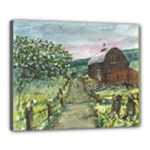 Amish Apple Blossoms -AveHurley ArtRevu.com- Canvas 20  x 16  (Stretched)