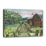 Amish Apple Blossoms -AveHurley ArtRevu.com- Canvas 18  x 12  (Stretched)