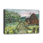 Amish Apple Blossoms -AveHurley ArtRevu.com- Deluxe Canvas 18  x 12  (Stretched)
