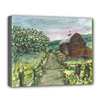 Amish Apple Blossoms -AveHurley ArtRevu.com- Deluxe Canvas 20  x 16  (Stretched)