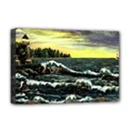 Cosgriff Point Lighthouse -AveHurley ArtRevu.com- Deluxe Canvas 18  x 12  (Stretched)