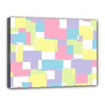 Mod Pastel Geometric Canvas 16  x 12  (Framed)