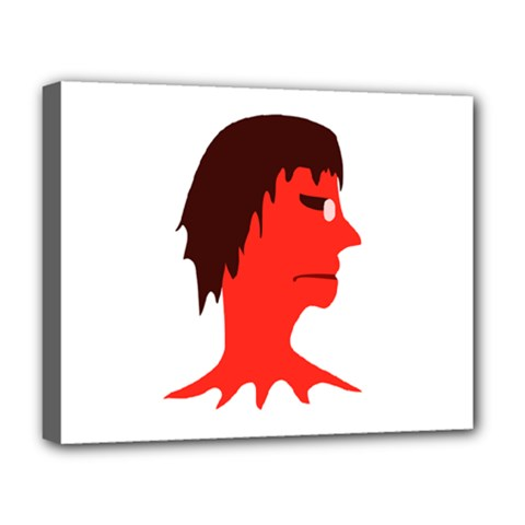 Monster With Men Head Illustration Deluxe Canvas 20  X 16  (framed) by dflcprints