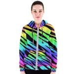 Rainbow Tiger Women s Zipper Hoodie