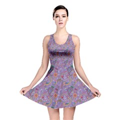 Purple Paisley Reversible Skater Dress by StuffOrSomething