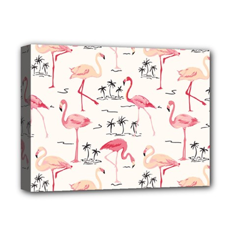 Flamingo Pattern Deluxe Canvas 16  X 12   by Contest580383