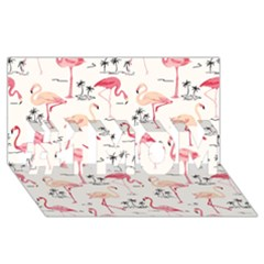 Flamingo Pattern #1 Mom 3d Greeting Cards (8x4)  by Contest580383