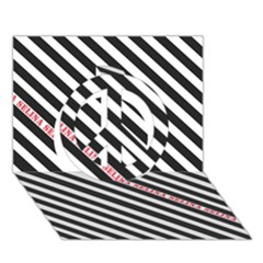 Selina Zebra Peace Sign 3d Greeting Card (7x5)  by Contest580383