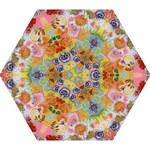 Floral Fantasy  by M. Nicole van Dam Mini Folding Umbrella