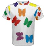 Butterflies Rainbow Colored Men s Cotton Tees