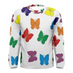 Butterflies Rainbow Colored Men s Long Sleeve T-shirts