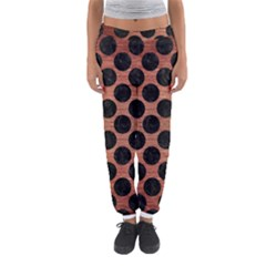 Circles2 Black Marble & Copper Brushed Metal (r) Women s Jogger Sweatpants by trendistuff