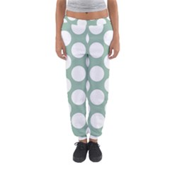 Jade Green Polkadot Women s Jogger Sweatpants