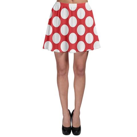 Red Polkadot Skater Skirt
