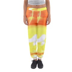 Sunny Orange Yellow Flame Women s Jogger Sweatpants