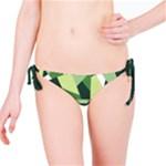 Abstract Jungle Green Brown Geometric Art Bikini Bottom