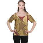 Urban Jungle Tower Brown Red Women s Cutout Shoulder Tee