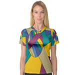 Unknown Abstract Modern Art By Eml180516 Women s V-Neck Sport Mesh Tee