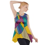 Unknown Abstract Modern Art By Eml180516 Side Drop Tank Tunic