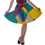 Unknown Abstract Modern Art By Eml180516 A-line Skater Skirt