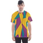 Bursting Star Poppy Yellow Violet Teal Purple Men s Sport Mesh Tee