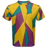 Bursting Star Poppy Yellow Violet Teal Purple Men s Cotton Tee