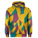 Bursting Star Poppy Yellow Violet Teal Purple Men s Pullover Hoodie